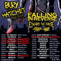 i wanna go soooooo bad The tour with Falling In Reverse, Survive This!, Escape The Fate and Chelsea Grin are selling out quick. Thanks to all you fans for making it happen!