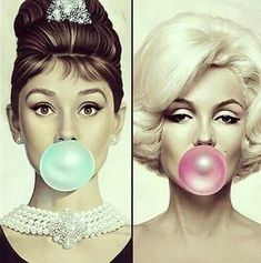 Audrey Hepburn & Marilyn Monroe doing bubbles . - Audrey Hepburn & Marilyn Monroe doing bubbles - Audrey Hepburn Poster, Marilyn Monroe And Audrey Hepburn, Marylin Monroe, Audrey Hepburn Costume, Marilyn Monroe Makeup, Marilyn Monroe Costume, Marilyn Monroe Poster, Marilyn Monroe Quotes, Culture Pop