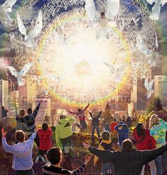 REVELATION — Creitz Illustration Studio Heaven Art, Total Image, The Reunion, Prophetic Art, Deities, Jesus Christ, Art For Kids, Arts And Crafts, Lord