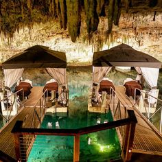Treat yourself to a massage in the exotic Grotto Bay caves in Bermuda. @Bermuda #properfun #partner