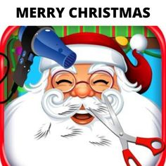 The Super amazing Santa Claus is all set to hand out gifts after getting his hair done by favorite stylist. Text Message Marketing, Quickbooks Online, Salon Software, Best Salon, Christmas Graphics, Facebook Business, Merry Christmas, Christmas Hair, Gift Vouchers