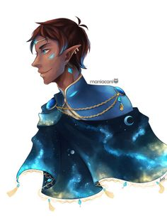 """maniacani: """" """"Lance from Voltron: Legendary Defender (feat. a very extra altean cape) """" Yes, ofc i had to draw the other son (more like 2am inspiration strikes again). Or an altean!Lance with a very extra cape to go with my galra!Keith """""""