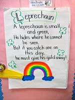 "USe poem for morning circle.  Hide a ""Leprechaun"", have helper find it and place on the classroom ""map"" (S.S. standard for Qtr 3)"