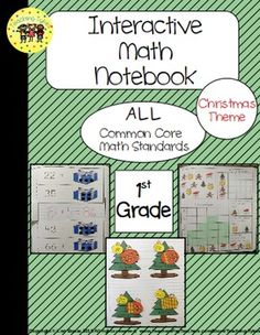 Interactive Notebook, Common Core, AND Christmas!!!  → EVERY 1st grade Math CCSS! ←  The activities are print and go – NO PREP!!  Holidays can be so hectic. This interactive packet has fun, hands-on activities for your active learners to introduce, review, or assess math concepts! Plus, a Christmas Bingo FREEBIE!  Your students will love learning with these activities, and you will love the ease of having a great resource for EVERY Math CCSS ready to print and use.