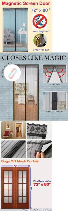Other Window Accessories 180114 72 W X 80 H Magnetic Screen Door