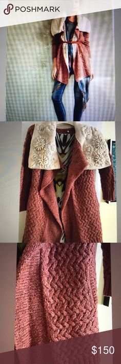 NWT Anthropologie Bondurant Cardigan sweater NWT Anthropologie Bondurant Sherpa Cardigan Sweater rose size PS.  One of the most fun and Versatile by sleeping on the snow.   Please note I list my items in several websites. If you like it. Please do not hesitate. Anthropologie Sweaters Cardigans