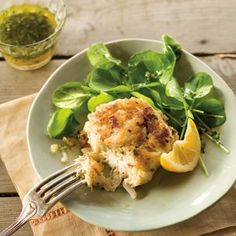 Crab Cake Tips: Handle the mixture gently, or you will be left with threads of crabmeat and no chunks. Cook gently to avoid overbrowning. The center needs to be just warm.