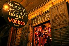 Hoodoo Magick Rootwork:  Marie Laveau's House of Voodoo shop, New Orleans, Louisiana, USA.