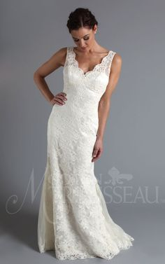 Love the lace straps.  #wedding dress