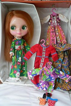 Nice 1972 Vintage Blythe Doll!!!! ~ I miss my blythe doll.  She had red hair with bangs, and the green dress.  She was in perfect condition.