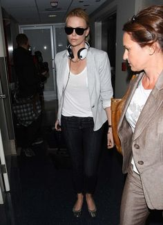 Charlize Theron Photos: Gorgeous Charlize Theron Catches A Flight Out At LAX
