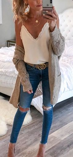 winter outfits cardigans schne Outfit-Ideen, u - winteroutfits Fashion Mode, Look Fashion, Winter Fashion, Feminine Fashion, Latest Fashion, Trendy Fashion, Fashion 2015, Fall Fashion 2018, Fashion Lookbook