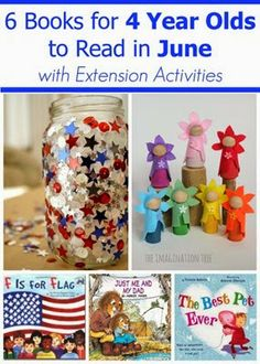 June Books for 4 Year Olds with Extension Activities