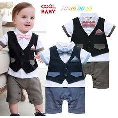 Cheap tie romper, Buy Quality rompers rompers directly from China baby boy summer Suppliers: HI BLOOM Baby Boy Summer Short Sleeve Bow Tie And Blue Tie Romper+Jacket Suit Set Infant Toddler Vest Gentlemen Party Jumpsuit Toddler Vest, Infant Toddler, Bloom Baby, Blue Ties, Summer Shorts, Baby Boy Outfits, Cool Things To Buy, Jumpsuit, Bow
