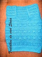 Trabalhos da vovó Sônia: Colete infantil azul - crochê