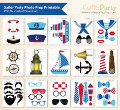 Sailor Party Photo Booth Prop Nautical Party Photo by Cutieparty