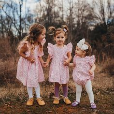 Three of hearts. ❤💗 Family Photo Outfits, Kids Outfits, Party Outfits, Toddler Fun, Toddler Girl, Kids Fashion, Fashion Clothes, Fashion Dresses, Baby Design