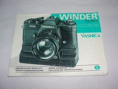 Vtg Yashica Camera Winder FR Instruction Booklet Book   ..... We are TOP RATED * POWER Sellers on EBAY * Selling WORLDWIDE. Visit us at our EBAY STORE * 4COOLSTUFF2BUY with any questions or items for sale.