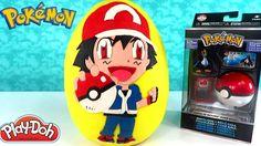 Huevo Sorpresa Gigante de Ash Ketchum de Pokémon de Plastilina Play Doh ...