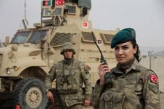 Turkish army soldiers in Afghanistan.