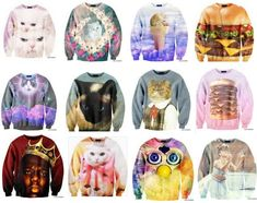 These sweaters need to get in my closet. I NEED a Furby sweater.