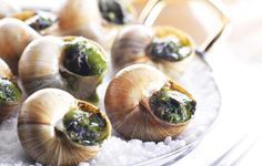 Plate of Escargot on tabletop