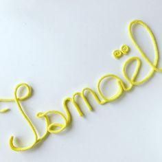 Ismaël  #ismael #diy #prenomenlaine #cadeau