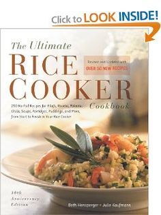 The Ultimate Rice Cooker Cookbook - Rev: 250 No-Fail Recipes for Pilafs, Risottos, Polenta, Chilis, Soups, Porridges, Puddings, and More, fro [Paperback] on Amazon today for $12.21 & eligible for FREE Super Saver Shipping see more like this at www.ddsgiftshop.com like our facebook page here https://www.facebook.com/pages/DDs-Gift-Shop/113955198649056