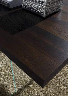 Wooden table crystal base Flai | milanomondo