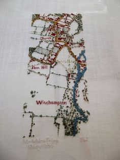 Embroidery Map, Embroidery Patterns, Sewing Art, Sewing Crafts, Map Quilt, Contemporary Embroidery, Haptic Lab, Stitch Design, Plans