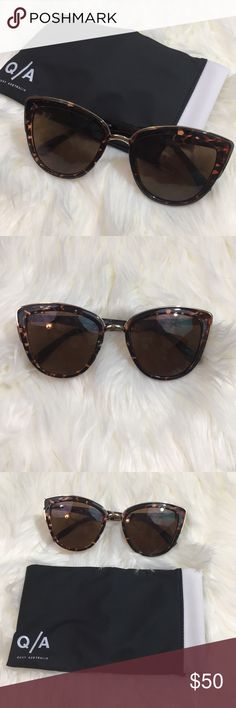 🆕Quay Australia 'My Girl' Sunglasses Only worn once In new condition, no flaws Brown tortoise color Comes with protective pouch Quay Australia Accessories Sunglasses