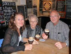 Enjoying Irish Coffee at Cork & Cavan (we seem to find an Irish Pub every place we go!)