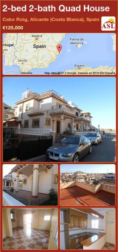 2-bed 2-bath Quad House in Cabo Roig, Alicante (Costa Blanca), Spain ►€125,000 #PropertyForSaleInSpain
