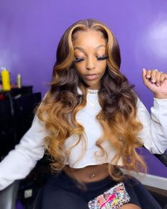 Birthday Hairstyles, Sew In Hairstyles, Frontal Hairstyles, Baddie Hairstyles, Pretty Hairstyles, Black Girl Weave Hairstyles, Hairstyle Ideas, Curly Hair Styles, Natural Hair Styles