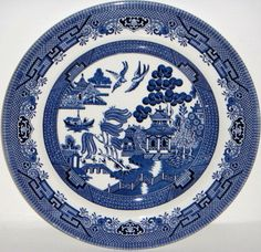 Churchill Blue Willow China