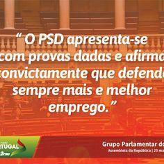 Palavras do Grupo Parlamentar do Partido Social Democrata durante o Debate Temático sobre Precariedade Laboral, na Assembleia da República. #PSD #acimadetudoportugal