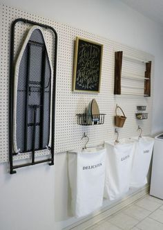 Try these fresh & modern DIY pegboard ideas! Pegboard organization and storage can be pretty, and be used in any room of the house! Laundry Room Storage, Laundry Storage, Small Storage, Room Remodeling, Room Storage Diy, Storage Room Organization, Room Organization, Laundry Room Organization Storage, Wall Storage