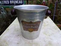 Vintage french champagne ice bucket deco handles