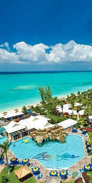 Beaches Resort, Turks & Caicos. All-inclusive, lots of water sports/activities. (downside: family resort)
