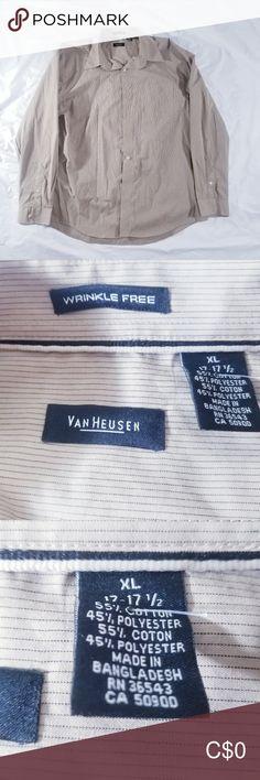 VAN HEUSEN DRESS SHIRT Button-down extra large wrinkle free Van Heusen dress shirt Van Heusen Shirts Casual Button Down Shirts Casual Shirts For Men, Casual Button Down Shirts, Plus Fashion, Fashion Tips, Fashion Trends, Man Shop, Shirt Dress, How To Wear, Closet