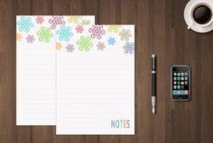 Inserto Stampabile Notes per Filofax A5  Erin di GraphicWithLove