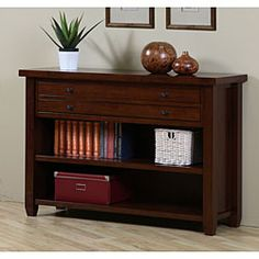 @Overstock.com - Walnut Cherry Navigator Console Table - Love this for the living room   http://www.overstock.com/Home-Garden/Walnut-Cherry-Navigator-Console-Table/4232054/product.html?CID=214117 $309.99