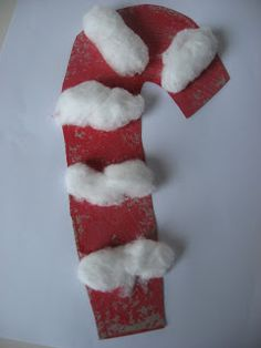 Candy Cane Craft For Toddlers - No Time For Flash Cards