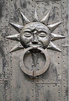 Knock Knock here comes the Sun door knocker.