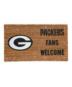 Another great find on #zulily! Green Bay Packers Welcome Doormat #zulilyfinds
