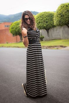 The Key long Dress Palacio_Aldo_longdress_stripes_danielespinosa_monogram