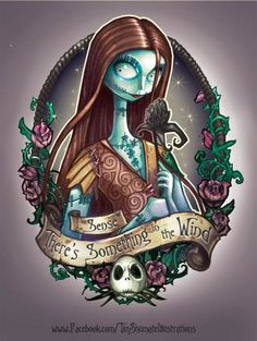 Nightmare Before Christmas, Sally.  This is gorgeous, LOVE it.  It would make a nice print to frame, or an excellent tattoo.