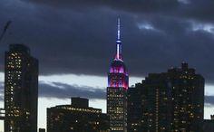 El Empire State es del Barça. El edificio se ilumina con los colores del Barcelona el día de la apertura de la oficina del FCB en NY (7 de Sept. 2016).