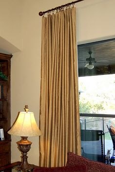 DIY lined curtain panel