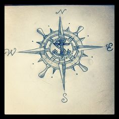 compass rose designs with anchor - Google Search